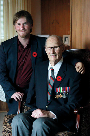 CHAMP Graduate Sean with Second World War amputee veteran Lloyd Brown.